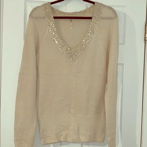 Beautiful Free People V Neck Sweater